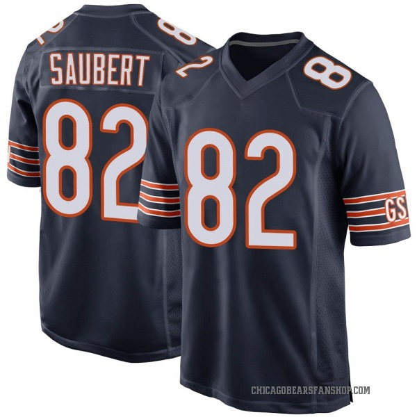 Youth Eric Saubert Chicago Bears Game Navy Team Color Jersey