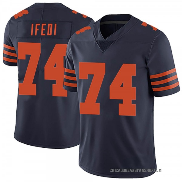 Youth Germain Ifedi Chicago Bears Limited Navy Blue Alternate Vapor Untouchable Jersey