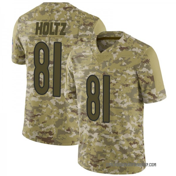 Youth J.P. Holtz Chicago Bears Limited Camo 2018 Salute to Service Jersey