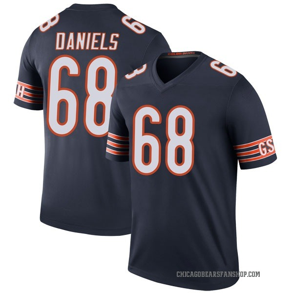 Youth James Daniels Chicago Bears Legend Navy Color Rush Jersey