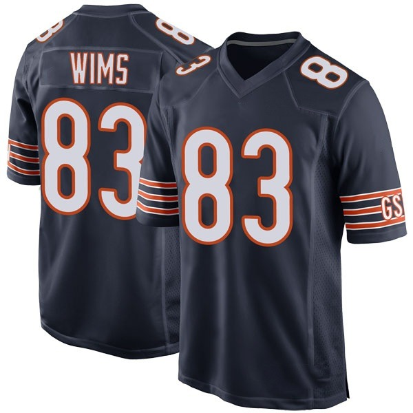 Youth Javon Wims Chicago Bears Game Navy Team Color Jersey