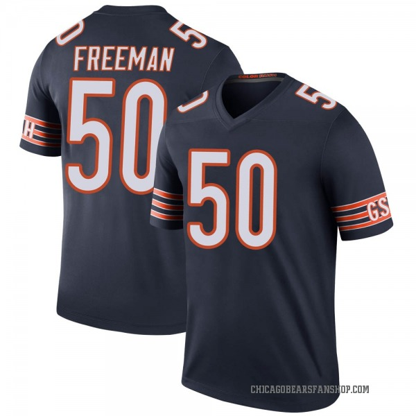 Youth Jerrell Freeman Chicago Bears Legend Navy Color Rush Jersey