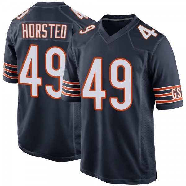 Youth Jesper Horsted Chicago Bears Game Navy 100th Season Jersey
