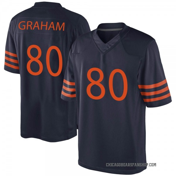 Youth Jimmy Graham Chicago Bears Game Navy Blue Alternate Jersey