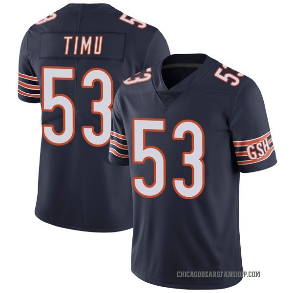 Youth John Timu Chicago Bears Limited Navy Team Color Vapor Untouchable Jersey