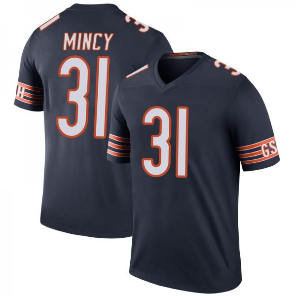 Youth Jonathon Mincy Chicago Bears Legend Navy Color Rush Jersey
