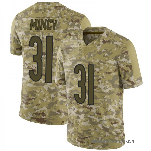 Youth Jonathon Mincy Chicago Bears Limited Camo 2018 Salute to Service Jersey
