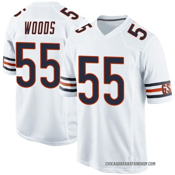 Youth Josh Woods Chicago Bears Game White Jersey