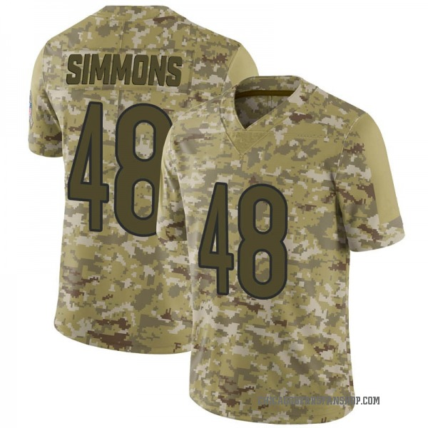 Youth Joshua Simmons Chicago Bears Limited Camo 2018 Salute to Service Jersey