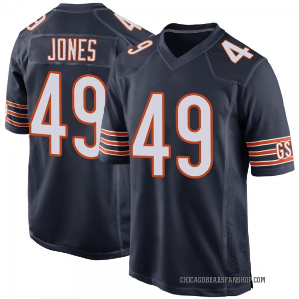 Youth Keandre Jones Chicago Bears Game Navy Team Color Jersey