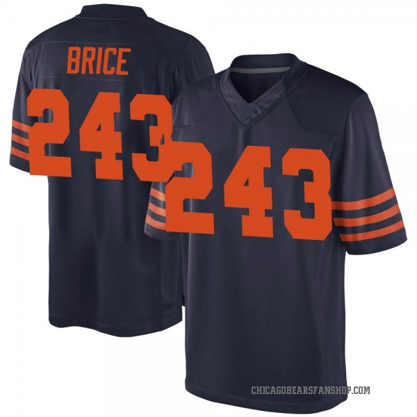 Youth Kentrell Brice Chicago Bears Game Navy Blue 3 Alternate Jersey
