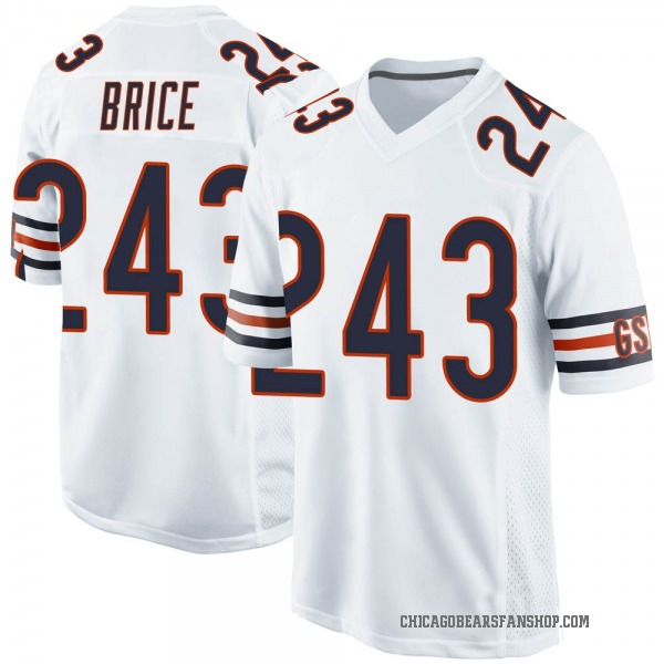 Youth Kentrell Brice Chicago Bears Game White 3 Jersey