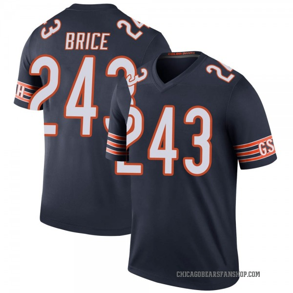Youth Kentrell Brice Chicago Bears Legend Navy 3 Color Rush Jersey