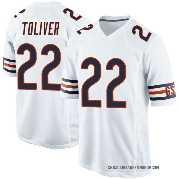 Youth Kevin Toliver Chicago Bears Game White Jersey