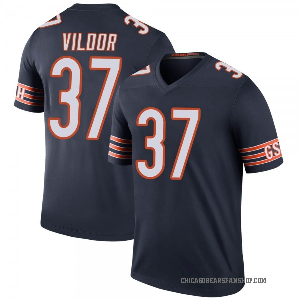 Youth Kindle Vildor Chicago Bears Legend Navy Color Rush Jersey