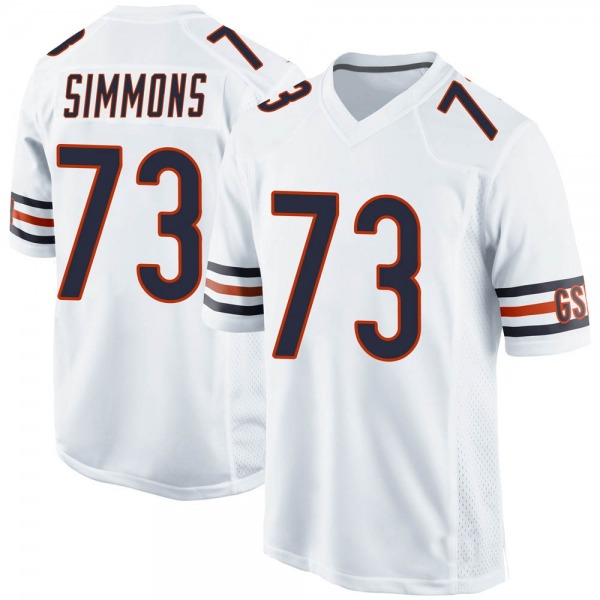 Youth Lachavious Simmons Chicago Bears Game White Jersey