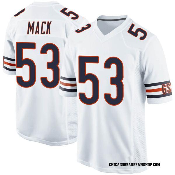 Youth Ledarius Mack Chicago Bears Game White Jersey
