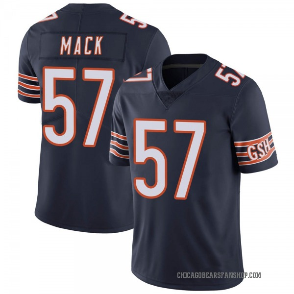 Youth Ledarius Mack Chicago Bears Limited Navy Team Color Vapor Untouchable Jersey