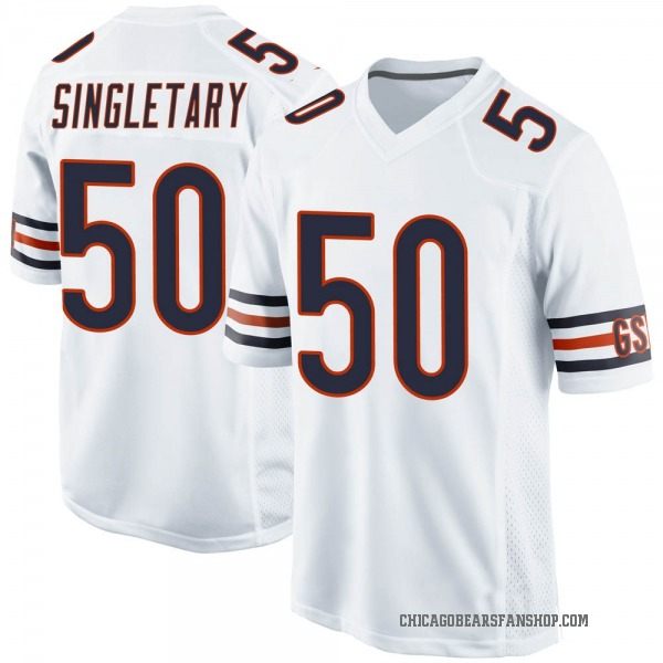 Youth Mike Singletary Chicago Bears Game White Jersey