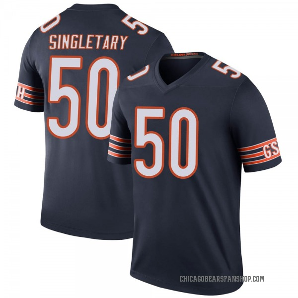 Youth Mike Singletary Chicago Bears Legend Navy Color Rush Jersey