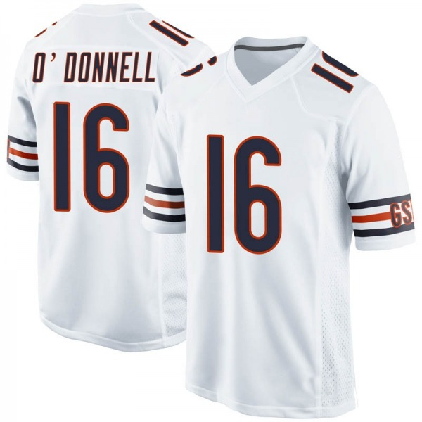 Youth Pat O'Donnell Chicago Bears Game White 100th Season Jersey