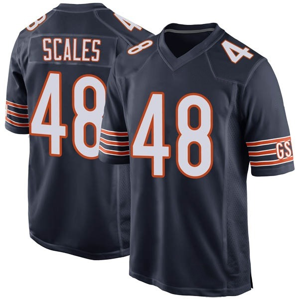 Youth Patrick Scales Chicago Bears Game Navy Team Color Jersey