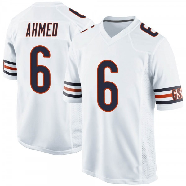 Youth Ramiz Ahmed Chicago Bears Game White Jersey