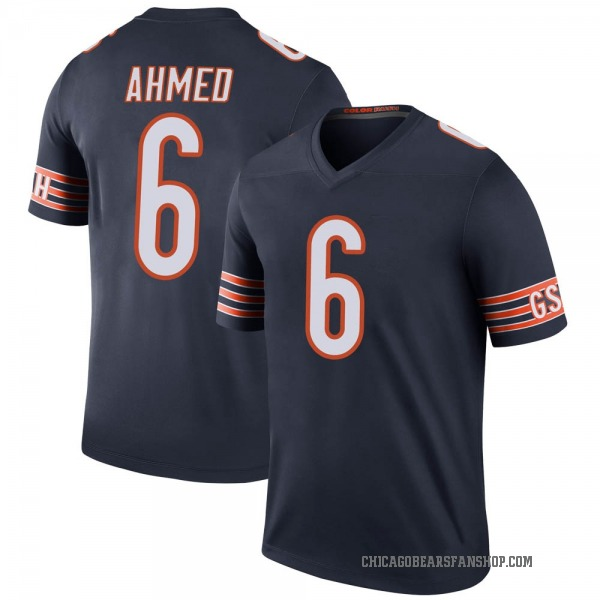Youth Ramiz Ahmed Chicago Bears Legend Navy Color Rush Jersey