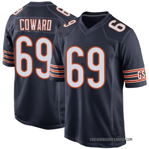 Youth Rashaad Coward Chicago Bears Game Navy Team Color Jersey