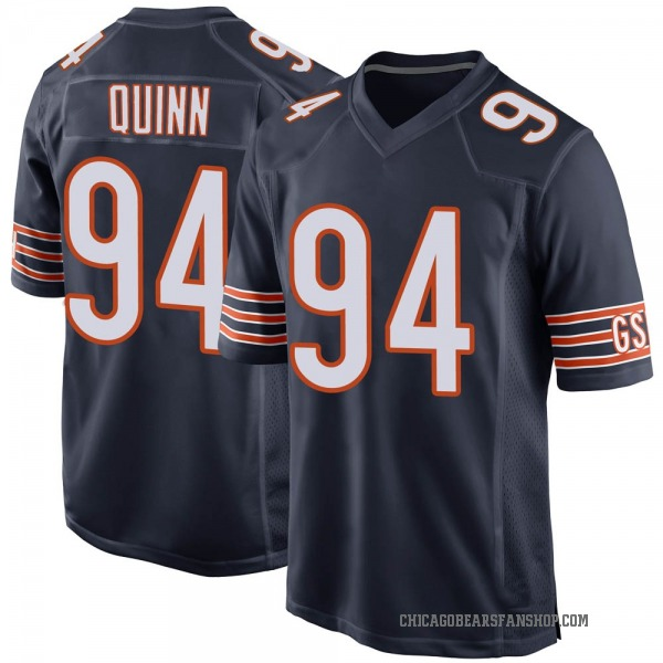 Youth Robert Quinn Chicago Bears Game Navy Team Color Jersey