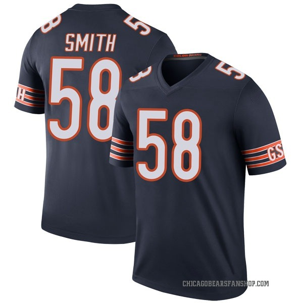 Youth Roquan Smith Chicago Bears Legend Navy Color Rush Jersey