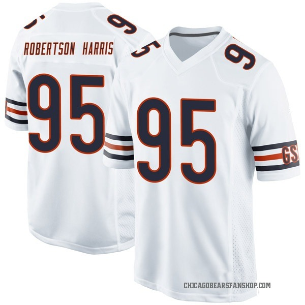 Youth Roy Robertson-Harris Chicago Bears Game White Jersey