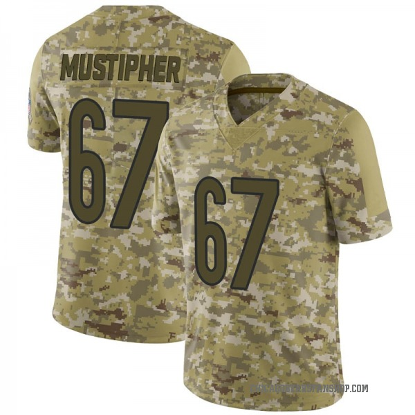 Youth Sam Mustipher Chicago Bears Limited Camo 2018 Salute to Service Jersey
