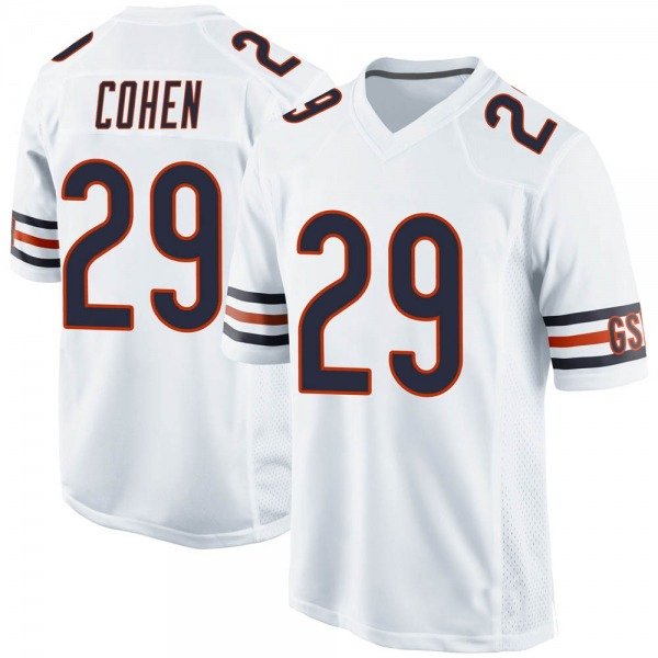 Youth Tarik Cohen Chicago Bears Game White Jersey