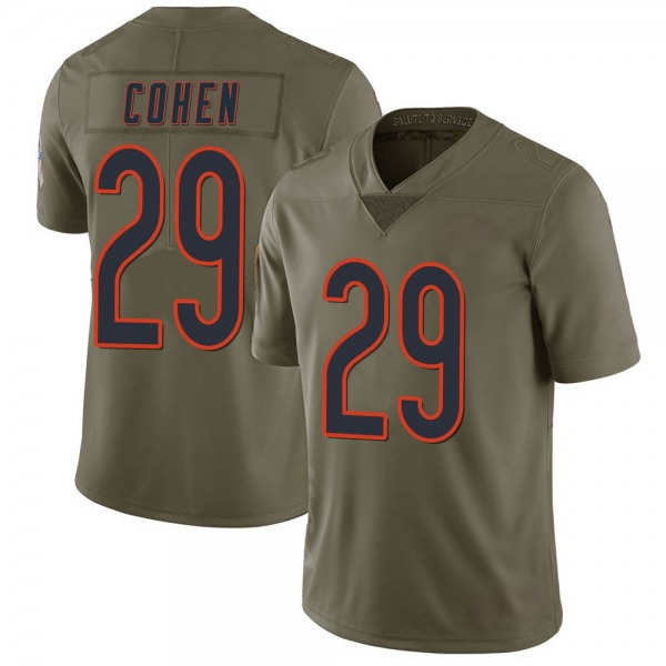 Youth Tarik Cohen Chicago Bears Limited Green 2017 Salute to Service Jersey
