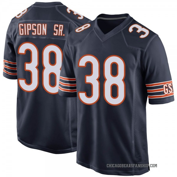 Youth Tashaun Gipson Chicago Bears Game Navy Team Color Jersey