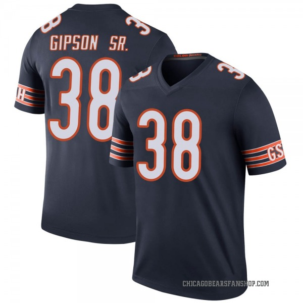 Youth Tashaun Gipson Chicago Bears Legend Navy Color Rush Jersey
