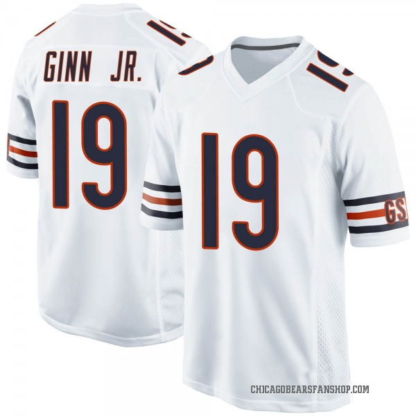 Youth Ted Ginn Jr. Chicago Bears Game White Jersey