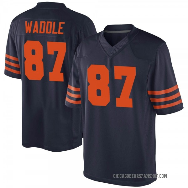 Youth Tom Waddle Chicago Bears Game Navy Blue Alternate Jersey