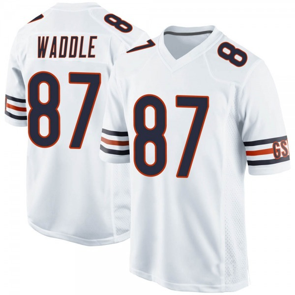 Youth Tom Waddle Chicago Bears Game White Jersey