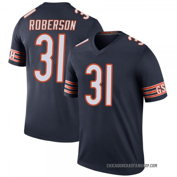 Youth Tre Roberson Chicago Bears Legend Navy Color Rush Jersey