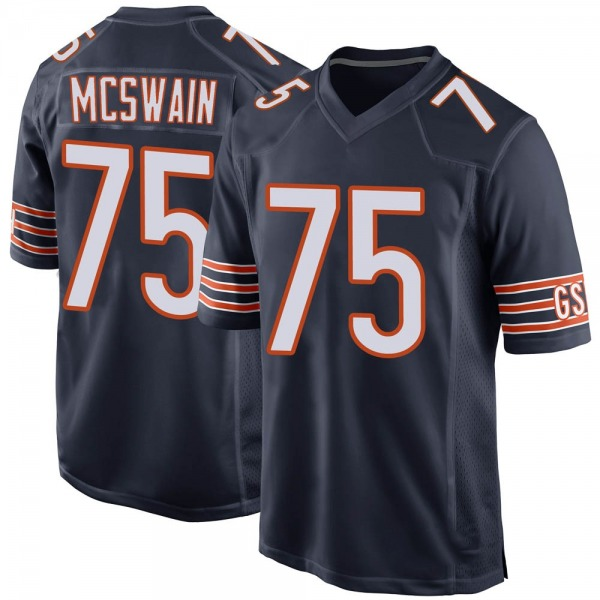 Youth Trevon McSwain Chicago Bears Game Navy Team Color Jersey