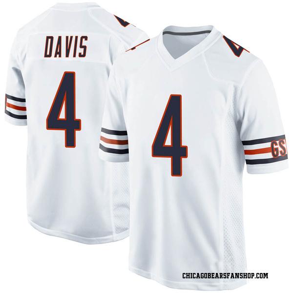 Youth Trevor Davis Chicago Bears Game White Jersey