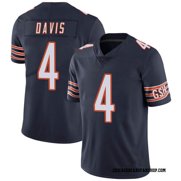 Youth Trevor Davis Chicago Bears Limited Navy Team Color Vapor Untouchable Jersey