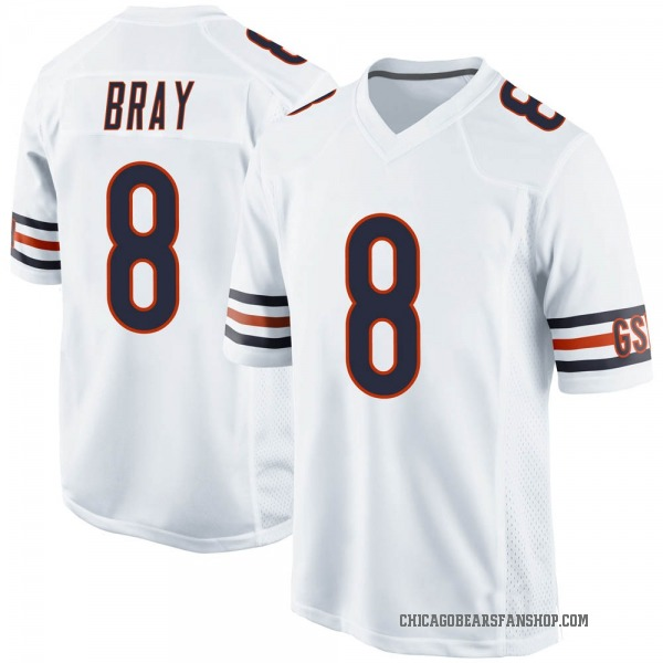 Youth Tyler Bray Chicago Bears Game White Jersey