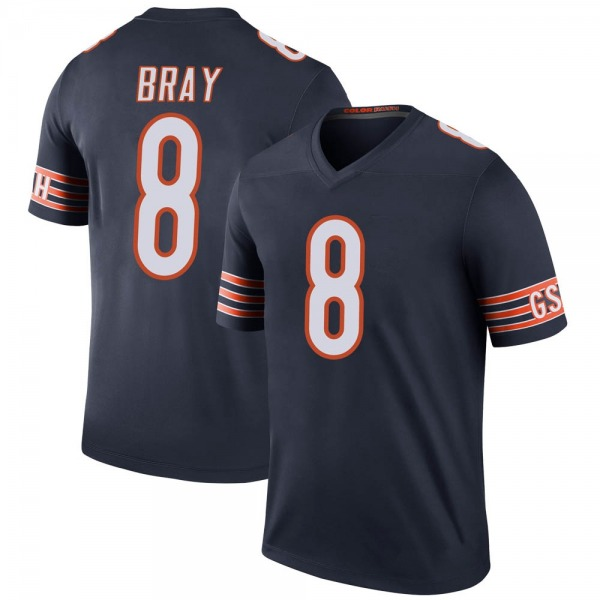 Youth Tyler Bray Chicago Bears Legend Navy Color Rush Jersey