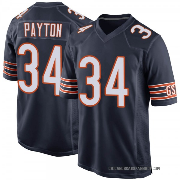 Youth Walter Payton Chicago Bears Game Navy Team Color Jersey