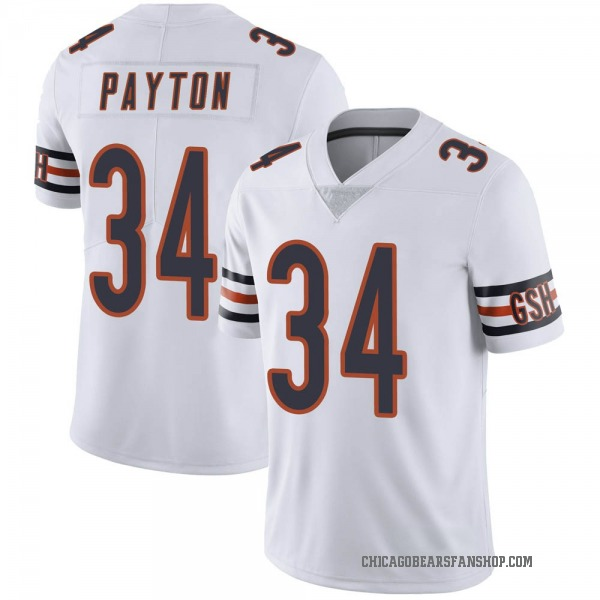 Youth Walter Payton Chicago Bears Limited White Vapor Untouchable Jersey