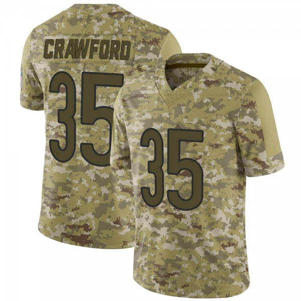 Youth Xavier Crawford Chicago Bears Limited Camo 2018 Salute to Service Jersey