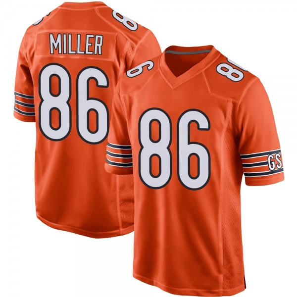 Youth Zach Miller Chicago Bears Game Orange 100th Season Jersey